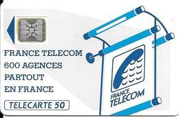CARTE-PUBLIC-600 AGENCES-50U-Te11.540-SC4An-OFFSET -Trou7-Impact-N°17255- Hors Cadre Vers Haut-UTILISE-TBE-RARE - France