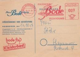 Deutsche Bundespost Werbung Postkarte 1959 Rotfrankerung - Used Stamps