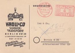 Deutsche Bundespost Werbung Postkarte 1953 Rotfrankerung - Used Stamps