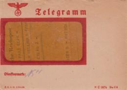 Deutsches Reich Telegramm 1944 + Inhalt - Allemagne