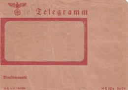 Deutsches Reich Telegramm Circa 1940 Mit Werbung - Allemagne