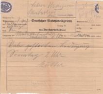 Deutsches Reich Telegramm 1927 Werbung - Covers & Documents