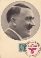 Deutsches Reich Propagandastempel Postkarte 1938 Adolf Hitler - Germany
