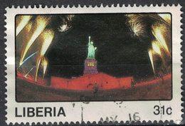 Liberia 1987 Oblitéré Used La Statue De La Liberté Flanquée Par Des Feux D'artifice SU - Liberia