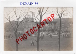 DENAIN-Concert-Kiosque-Musique-CARTE PHOTO Allemande-GUERRE-14-18-1 WK-FRANCE-59-Militaria- - Denain