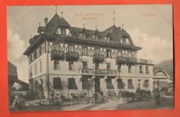 ZAG-03  Plaffeyen  Planfayon Hotel-Pension Alpenklub Attelages, Chevaux-Taxis.ANIME. Irculé Vers Fribourg En 1909 Meier - FR Fribourg