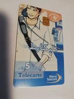 MAROCCO  CHIPCARD  5  UNITS   CARD     FINE USED    ** 1979** - Marokko