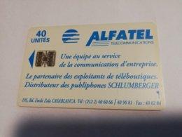 MAROCCO  CHIPCARD  40  UNITS   CARD   Alfatel Old Card   FINE USED    ** 1980** - Morocco