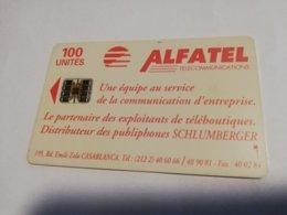 MAROCCO  CHIPCARD  100  UNITS   CARD   Alfatel Old Card   FINE USED    ** 1981** - Morocco