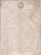 MANUSCRIT DU NOTAIRE DU COMTE DE CRAUZON  / AOUT 1753 / CRAUZON CROZON FINISTERE - Manuscripts