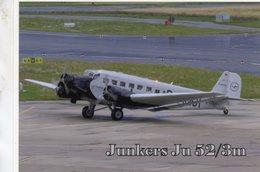 Junkers JU 52/3m At Dusseldorf International Airport -  CPM - 1919-1938: Entre Guerres