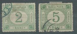 200035343  RUMANIA  YVERT  TAXE  Nº  7/8 - Impuestos