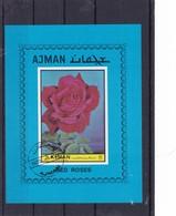 1972 Ajman, RED ROSES, Ungezähnt, Gestempelt - Ajman