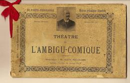 """ANNEE 1895 1896  RARE PROGRAMME PARIS THÉÂTRE DE L AMBIGU COMIQUE LES DEUX GOSSES""""  PHOTOS PUBLICITE V.SCANS - Programas"""