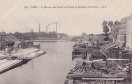CPA : Batellerie  Paris (75) Port Et Péniches à La Jonction Des Canaux Ourcq - Saint Denis La Villette Ed GI 580 - Arken