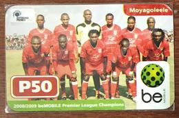 BOTSWANA MOYAGOLEELE BE P50 FOOTBALL RECHARGE GSM BE PRÉPAYÉE PREPAID PAS TÉLÉCARTE PHONECARD CARD - Botsuana