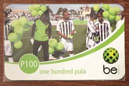 BOTSWANA RECHARGE BE P100 FOOTBALL RECHARGE GSM PRÉPAYÉE PREPAID PAS TÉLÉCARTE PHONECARD CARD - Botswana