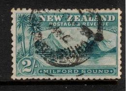 NZ 1898 2/- Blue-green Milford Sound SG 269 U ZZ111 - 1855-1907 Colonie Britannique
