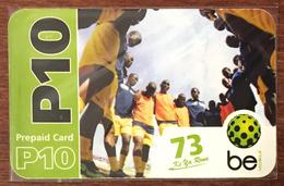 BOTSWANA FOOTBALL RECHARGE BE P10 RECHARGE GSM PRÉPAYÉE PREPAID PAS TÉLÉCARTE PHONECARD CARD - Botswana