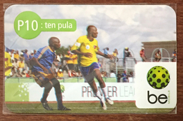 BOTSWANA FOOTBALL TEN PULA RECHARGE BE P10 RECHARGE GSM PRÉPAYÉE PREPAID PAS TÉLÉCARTE PHONECARD CARD - Botsuana