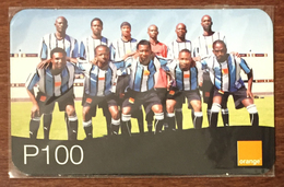 BOTSWANA FOOTBALL ÉQUIPE ORANGE RECHARGE P100 RECHARGE GSM PRÉPAYÉE PREPAID PAS TÉLÉCARTE PHONECARD CARD - Botswana