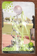 BOTSWANA FOOTBALL COUPE RECHARGE BE P100 RECHARGE GSM PRÉPAYÉE PREPAID PAS TÉLÉCARTE PHONECARD CARD - Botswana