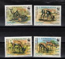 SOMALIE  Timbres Neufs ** De1992 (ref 1723B )  Animaux - Gazelles - Surcharges WWF - Somalia (1960-...)