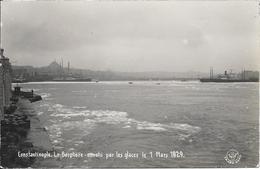 Carte Photo - Constantinople - Le Bosphore Envahi Par Les Glaces Le 1 Mars 1929 - Turquie