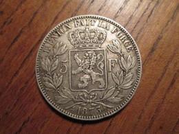 Pièce 5 Francs Belge 1873 Leopold II TTB++ (Belle Patine) En Argent - 1831-1865: Leopold I