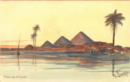 R364027 Piramids Of Giseh. L. Vivenzia. Mary Mill. No. 904 - Cartoline