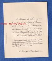 Faire Part De 1930 - LES ROCHES P. SAINT OURS / Puy De Dôme - Mariage Colette De COLBERT & Le Comte Henry De LAROUZIERE - Wedding