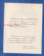 Faire Part De 1926 - LE CANNET Du LUC ( Var ) - Mariage Comte Maxime De COLBERT Et Mademoiselle De KLOPSTEIN - Wedding