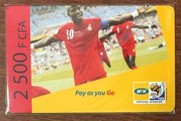 CAMEROUN CAMEROON MTN FOOTBALL RECHARGE GSM 2.500 FCFA PREPAID PAS TELECARTE CARTE PRÉPAYÉE - Camerún