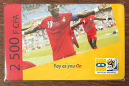 CAMEROUN CAMEROON MTN FOOTBALL RECHARGE GSM 2.500 FCFA PREPAID PAS TELECARTE CARTE PRÉPAYÉE - Kameroen
