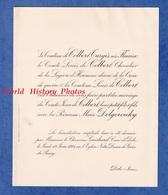 Faire Part De 1924 - DÔLE ( Jura ) - Mariage Comte Jean De COLBERT Avec La Princesse Marie DOLGOROUKY - Wedding