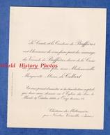 Faire Part De 1922 - Château De MILLIASSIERE P. NIVOLAS VERMELLE - Marguerite Marie De COLBERT & Le Vicomte De BUFFIERES - Wedding