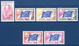 Unesco 1958/59 Neufs* N°16 à 21 Série Complète    0,30 € (cote En ** 4,25 €  6 Valeurs) - Service