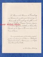 Faire Part De 1924 - PARIS / Boulevard Latour Maubourg - Mariage Comte De COLBERT CANNET Avec Mademoiselle De CAMBRAY - Wedding