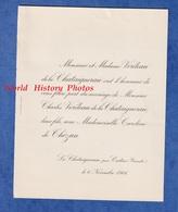 Faire Part De 1906 - CESTAS ( Gironde ) - Mariage Charles VERDEAU De La CHATAIGNERAIE Et Caroline De THEZAN - Wedding