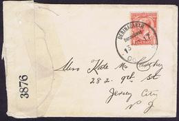 Ireland Cork Derrinacaharagh WW1 Censor Cover To USA Rubber Climax DERINACARAGH Dunmanway Co CORK 13 OCT.17 - Irlande