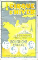 1936 PARIS PROGRAMME CIRQUE D HIVER BOUGLIONE FRERES LES ROIS DU CIRQUE B.E.VOIR SCANS - Programmes