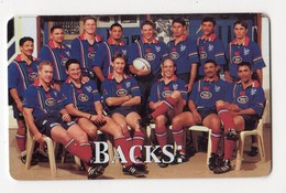 NAMIBIE REF MVCARD NMB-119 N$10 BACKS  Date 1999 RUGBYWORLD CUP 1999 - Namibië