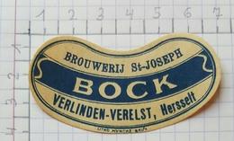 ETIQUETTE  BROUWERIJ  St-JOSEPH VERLINDEN - VERELST HERSSELT BOCK - Bière