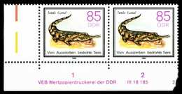DDR 1985 Nr 2956 DV Postfrisch WAAGR PAAR ECKE-ULI X6B6F1E - Ungebraucht
