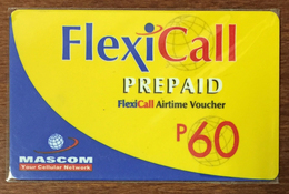 BOTSWANA FLEXICALL MASCOM RECHARGE P60 RECHARGE GSM PRÉPAYÉE PREPAID PAS TÉLÉCARTE PHONECARD CARD - Botsuana