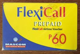 BOTSWANA FLEXICALL MASCOM RECHARGE P60 RECHARGE GSM PRÉPAYÉE PREPAID PAS TÉLÉCARTE PHONECARD CARD - Botswana