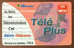 BÉNIN TELECOMS TÉLÉ PLUS 120U CARTE PRÉPAYÉE PHONECARD PREPAID - Bénin