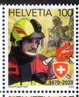 2020 Switzerland 150 Jahre Schweizerischer Feuerwehrverband / 150 Years Of Fire Brigade Society MNH** MiNr. 2643 Fireman - Sapeurs-Pompiers