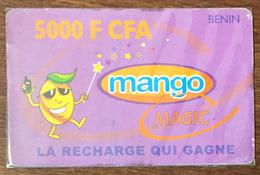 BÉNIN MANGO MAGIC RECHARGE GSM 5.000 FCFA EXP 31/10/2009 PHONECARD PRÉPAYÉE PREPAID PAS TELECARTE - Bénin