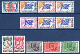 Unesco 1960/69 Neufs** N°26, 29/32, 34 à 40     TB   3 € (cote 17,80 €  12 Valeurs) - Service